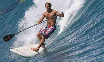 surf paddling machine