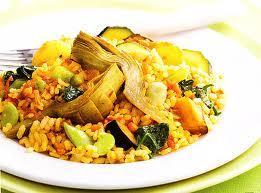 Receta de paella vegetariana baja en calor as recetas de - Comidas sanas y bajas en calorias ...