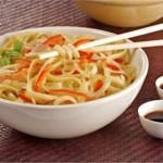 Receta de Tallarines con soja y verduras