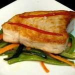 Receta de Atún a la plancha con verduras