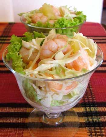 Receta de ensalada tropical recetas de cocina saludables - Diferentes ensaladas de lechuga ...