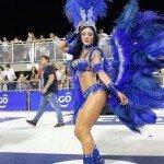 Pamela Rodríguez en el carnaval de Encarnación